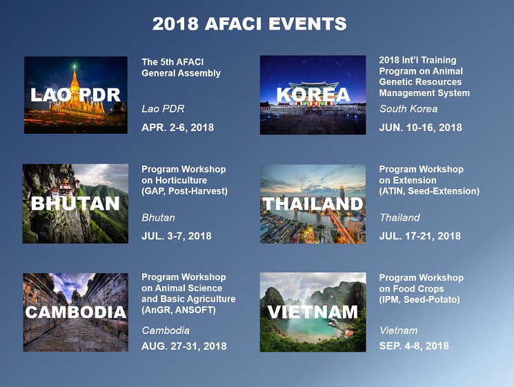 2018 afaci events